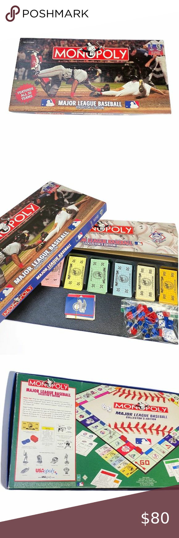 Monopoly Major League Baseball Game 2003 in 2020 Major