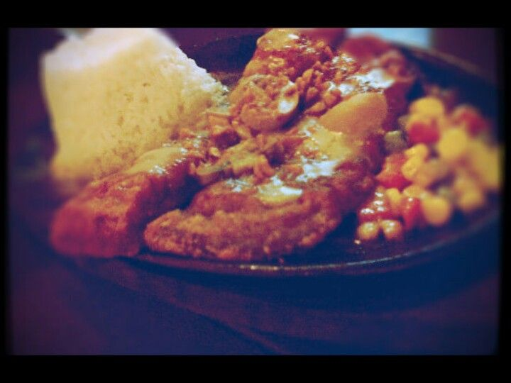 Sizzling bangus belly.