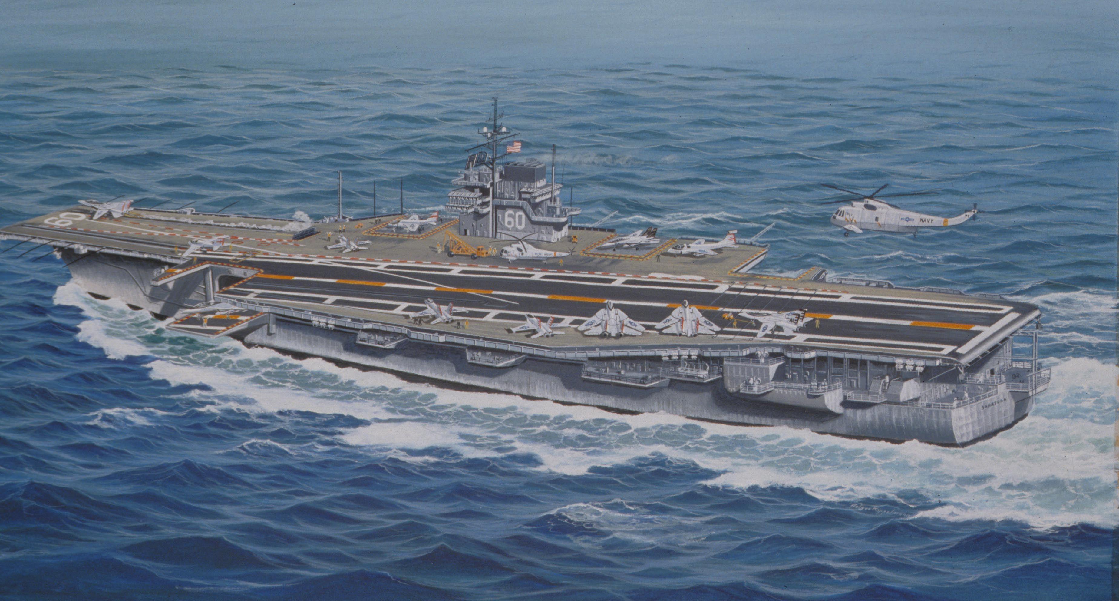 Uss Saratoga In The Persian Gulf First Gulf War