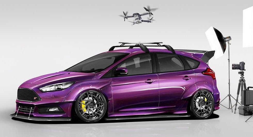 These Are Ford S Modded Focus Hatches For Sema Araba