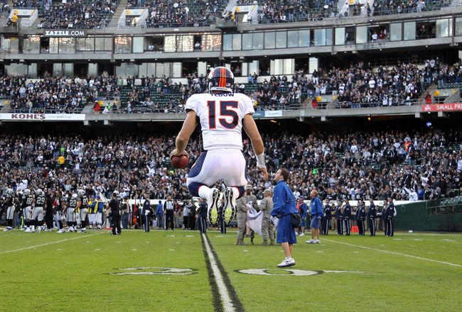 Wish I could jump this high. Tim Tebow