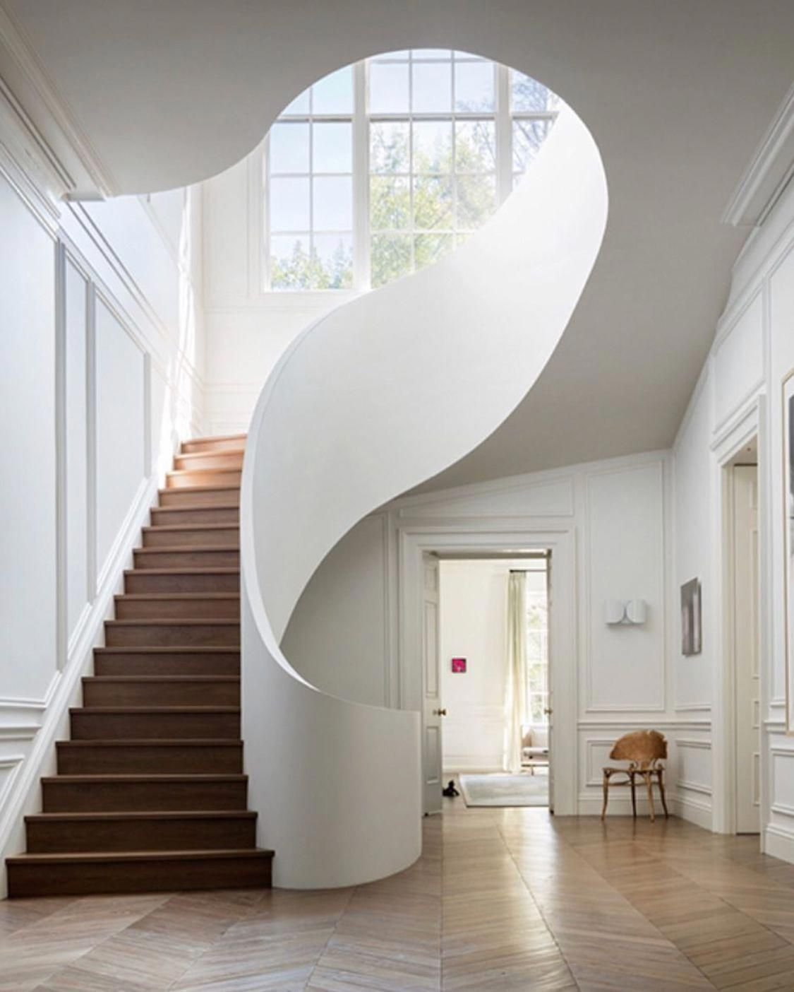 Fluid Architectural Design In Stairwell Boutiqueinteriordesign Stairs Design Staircase Design Stairs Architecture