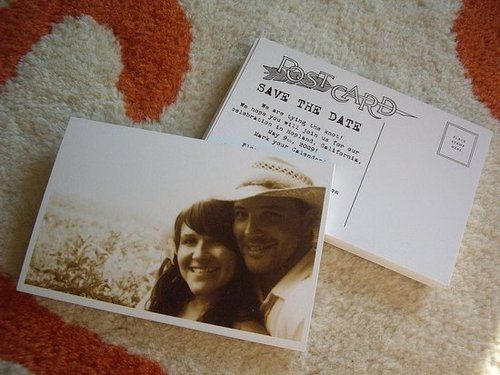 Save The Date Postcards On