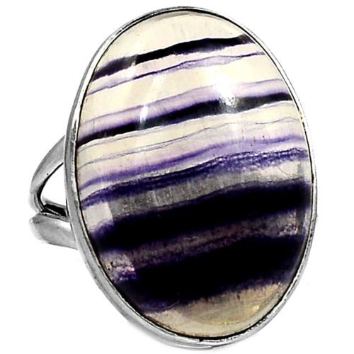 Multi-Fluorite-925-Sterling-Silver-Ring-Jewelry-s-8-5-SR111012