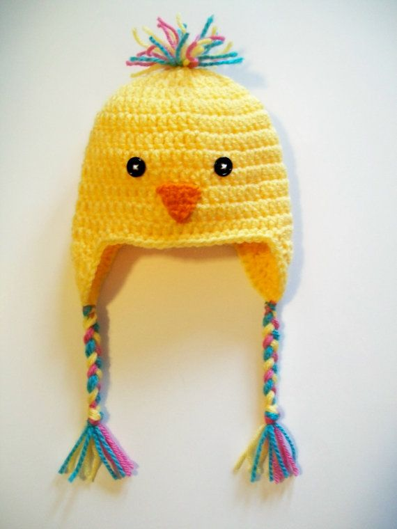 Crochet Baby Bird Chick Hat Beanie - Yellow Bird Hat - Crochet Bird ...