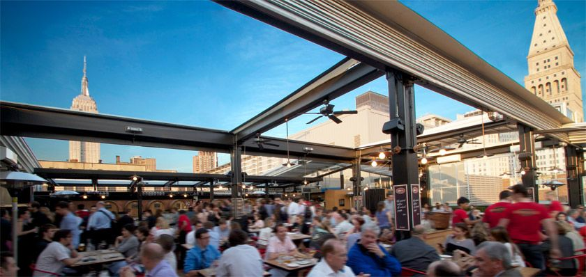 Wonderful Roll A Coveru0027s Retractable Roof At Eataly Birreria In New York City | Eataly  Birreria Retractable Roof | Pinterest | Rooftop