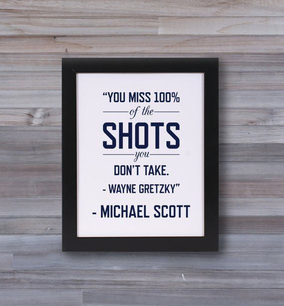 Michael Scott Quote The Office Wayne Gretzky Quote Graphic Print Wall Art Graphic Quotes Michael Scott Quotes Name Wall Art