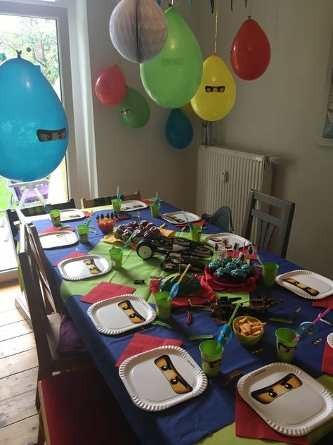 Lego Ninjago Party - Der 8. Geburtstag #hawaiianluauparty
