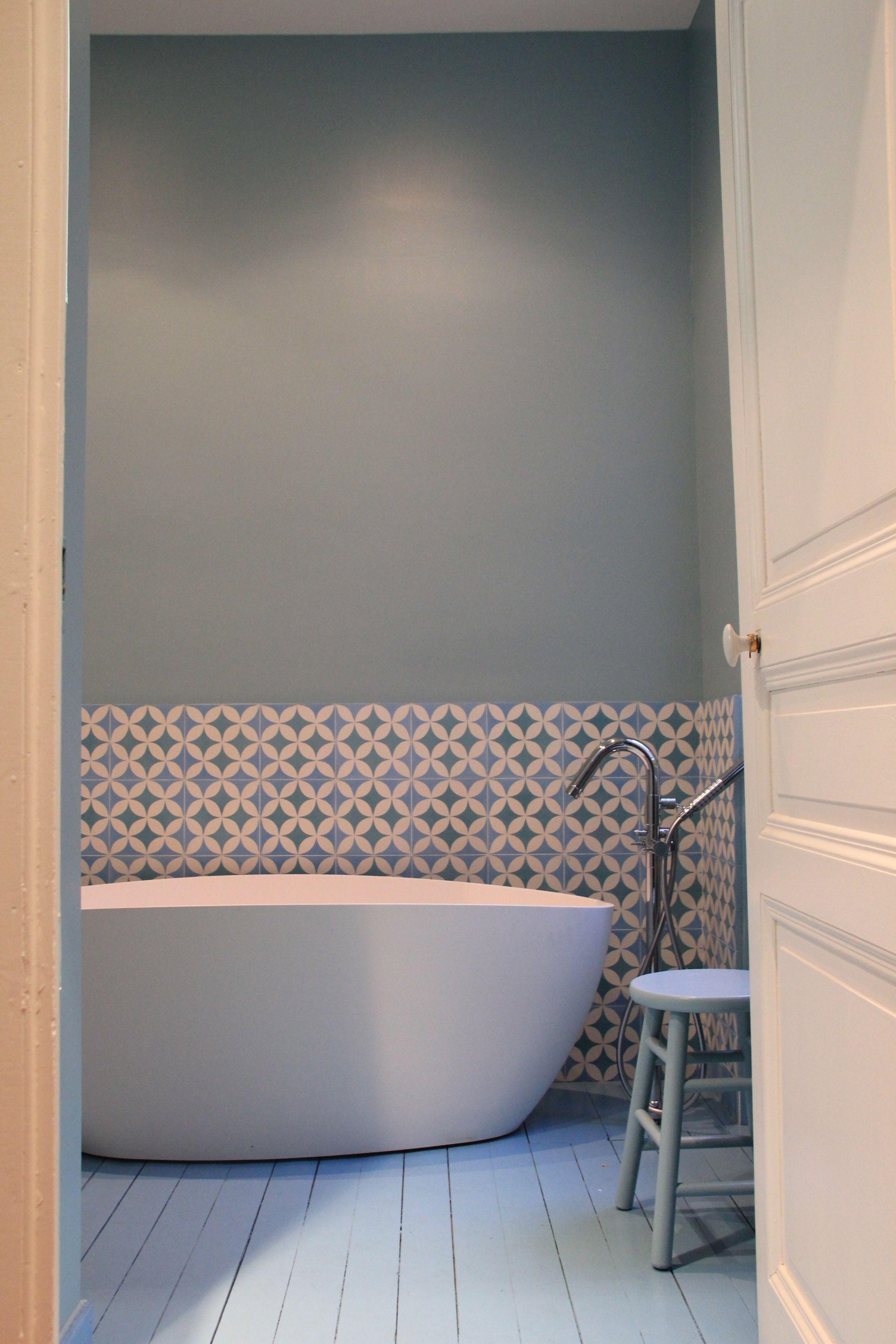 salle de bain carreaux de ciment | Salle de bains | Pinterest ...