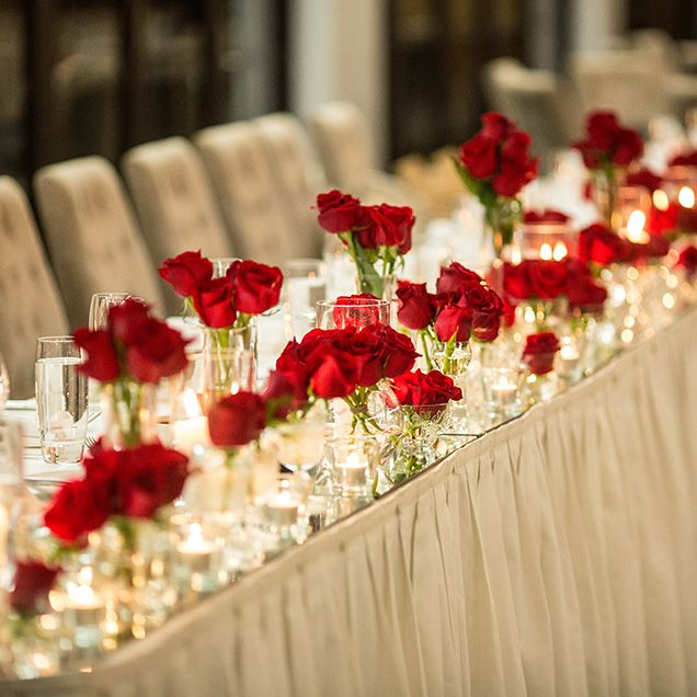The Introduce A Less Formal And More Modern Aesthetic For Reception Red Wedding
