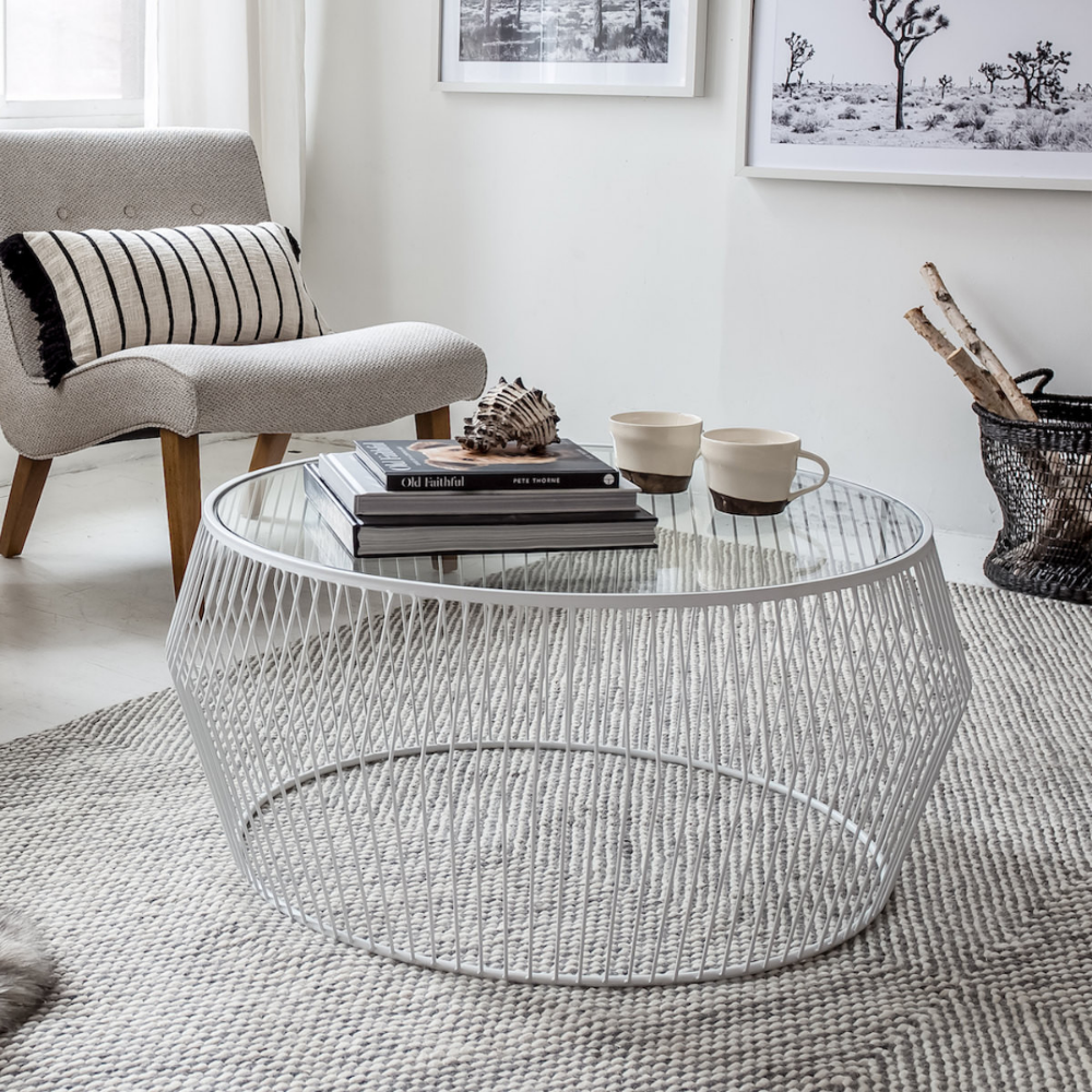 Cyclone Wire Coffee Table Coffee Table Modern Glass Coffee Table Wire Coffee Table [ 1000 x 1000 Pixel ]