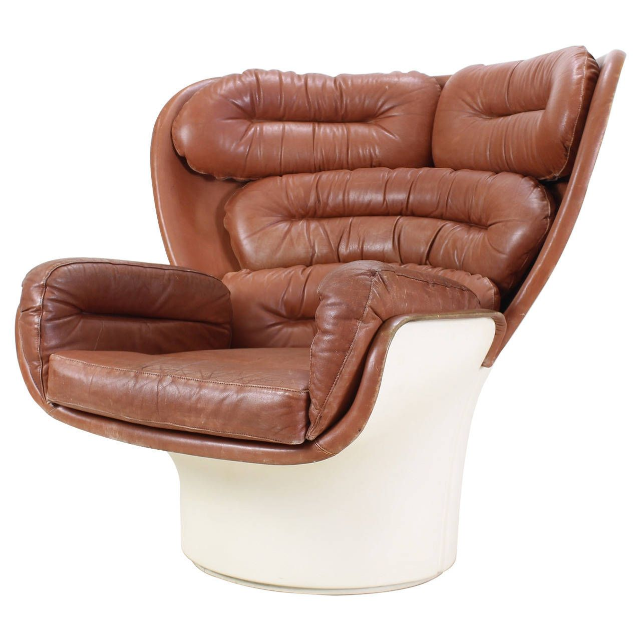 Best Brown Leather Joe Colombo Elda Chair For Comfort Italy 640 x 480