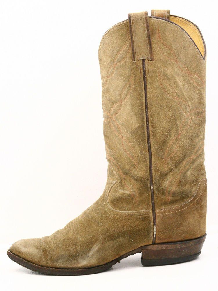 Tony Lama Mens Cowboy Boots Size 8.5 EE