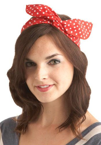 Through the Wire Headband in Red, #ModCloth