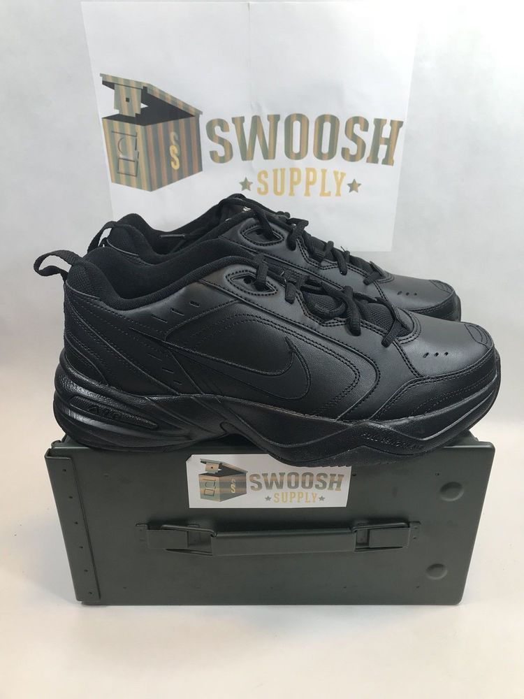 3e4b15c9b NIKE AIR MONARCH IV LOW SNEAKERS MEN SHOES BLACK 415445-001 SIZES  Nike   RunningCrossTraining