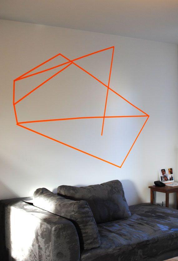 diy decoration murale en masking tape washi tape. Black Bedroom Furniture Sets. Home Design Ideas