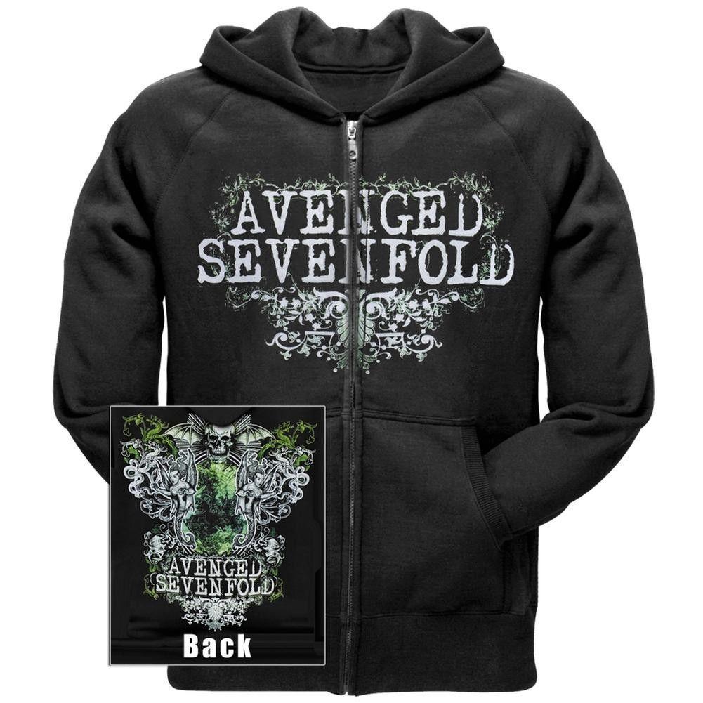 Avenged Sevenfold Vine Flourish Zip Hoodie Hoodies
