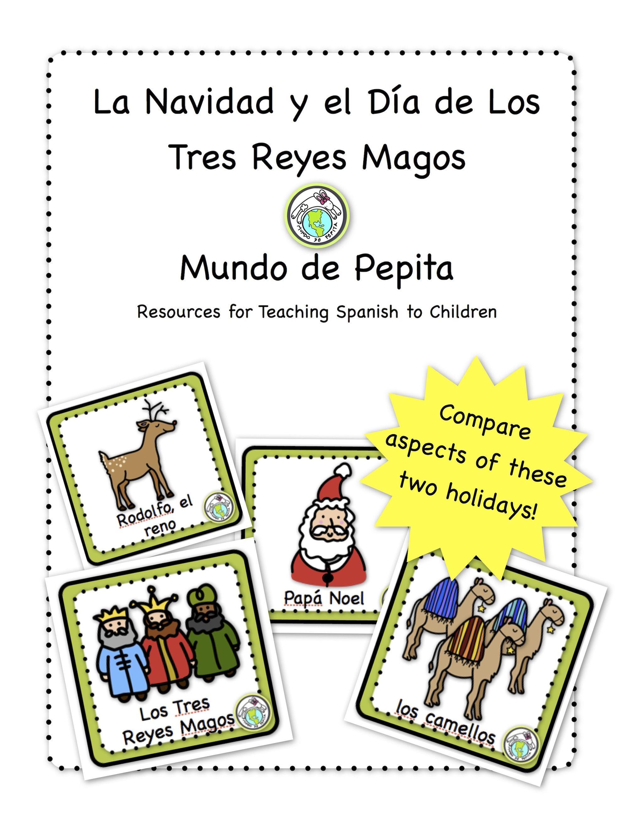 Christmas Three Kings Day Bilingual Holiday Printable