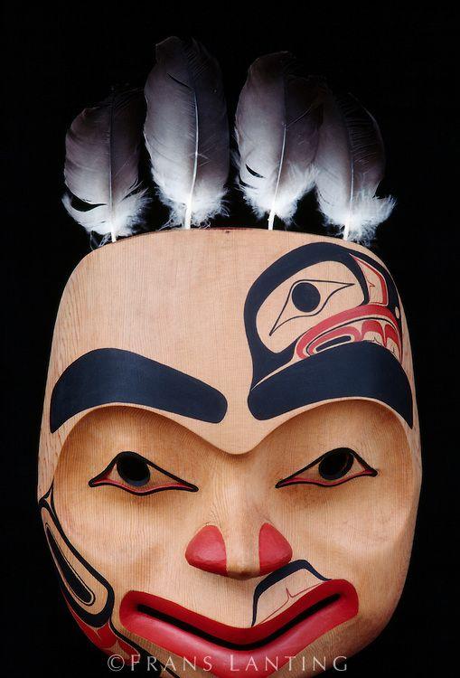 Eagle mask by Haida artist Reg Davidson, British Columbia, Canada