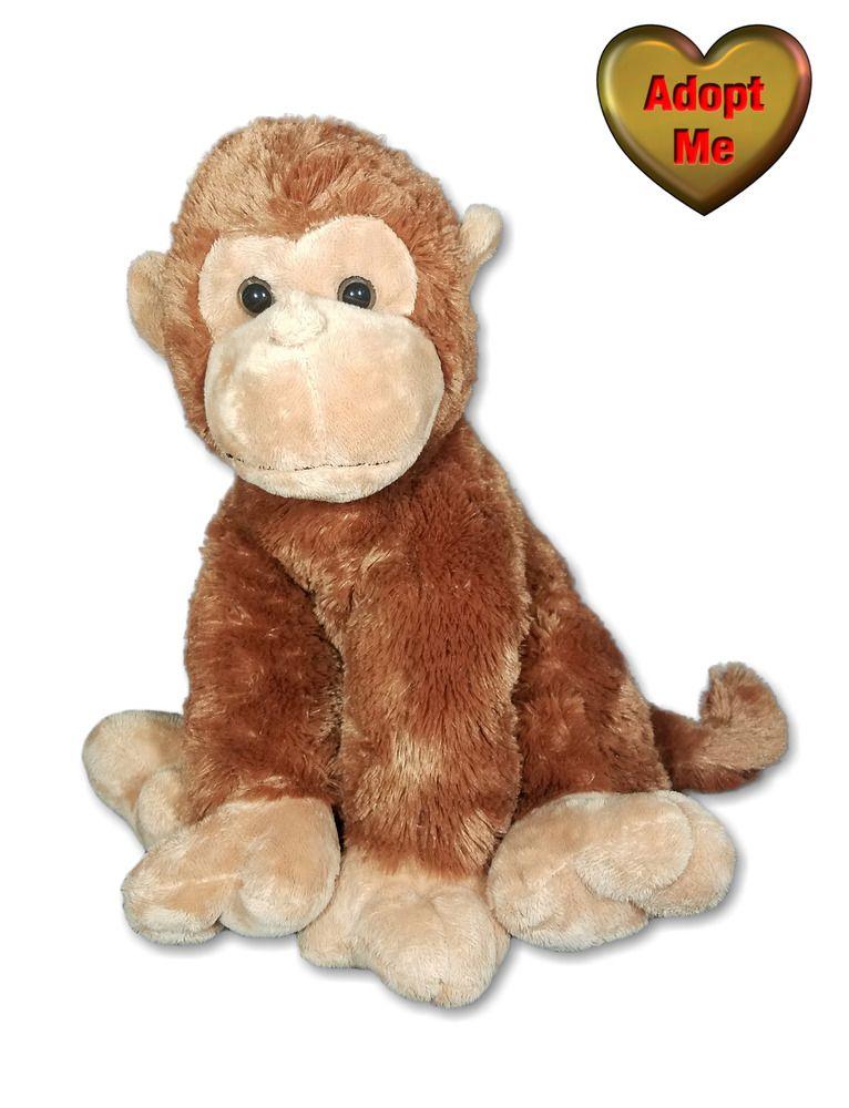 Aurora Monkey Chimp Sitting 13in Stuffed Plush Wild Jungle Safari