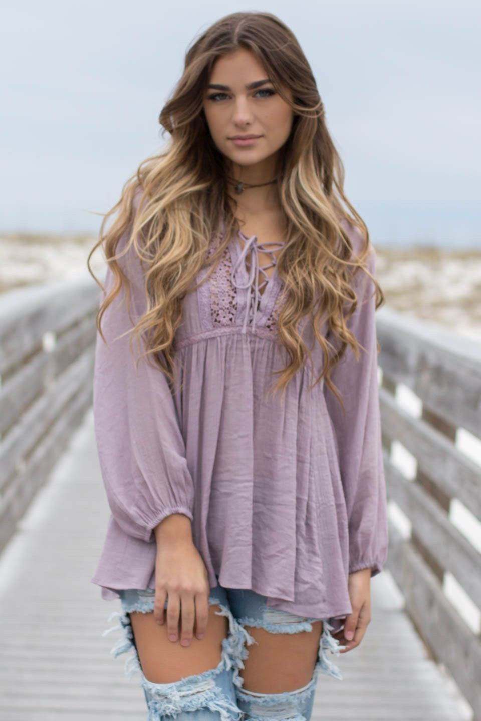 Tampa Riverwalk Light Mauve Tunic Top
