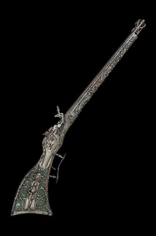 uniquely decorated 16th century wheel-lock musket originating from Eastern…