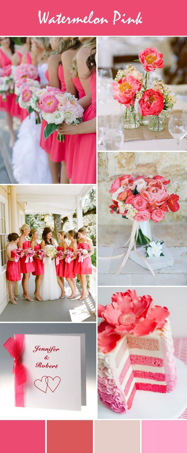 Stunning Bright Pink Wedding Color Ideas With Invitations For Spring Summer