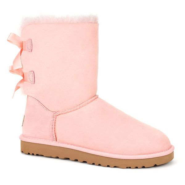 52d627b17fc Light Pink UGG Boots with Bows | UGG Australia Bailey Bow Check our ...