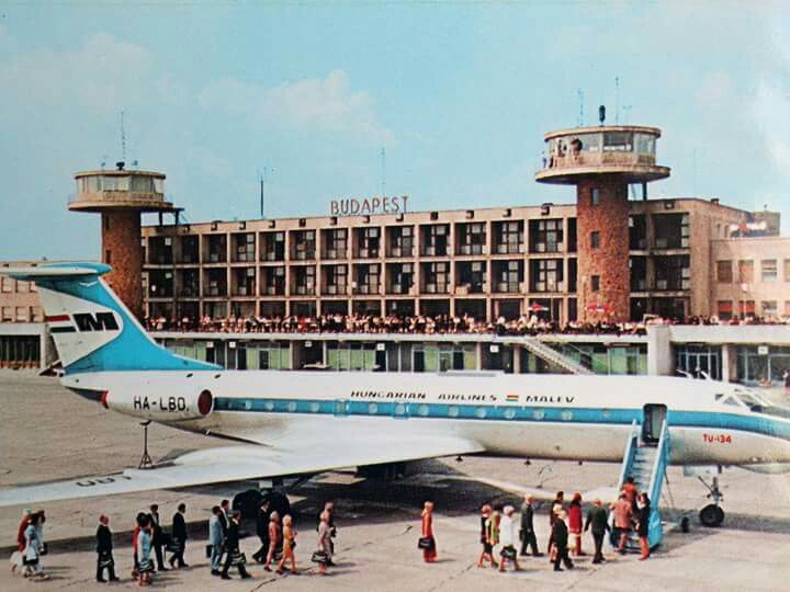 1971. Ferihegyi repülőtér, TU 134. (With images