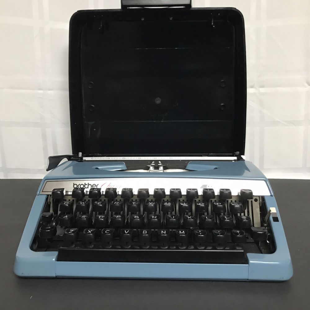 Vintage Brother Charger 11 Manual Blue Typewriter CLEAN