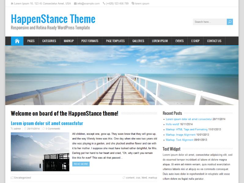 HappenStance Wordpress Theme. Eine super Vorlage die ich gerne ...
