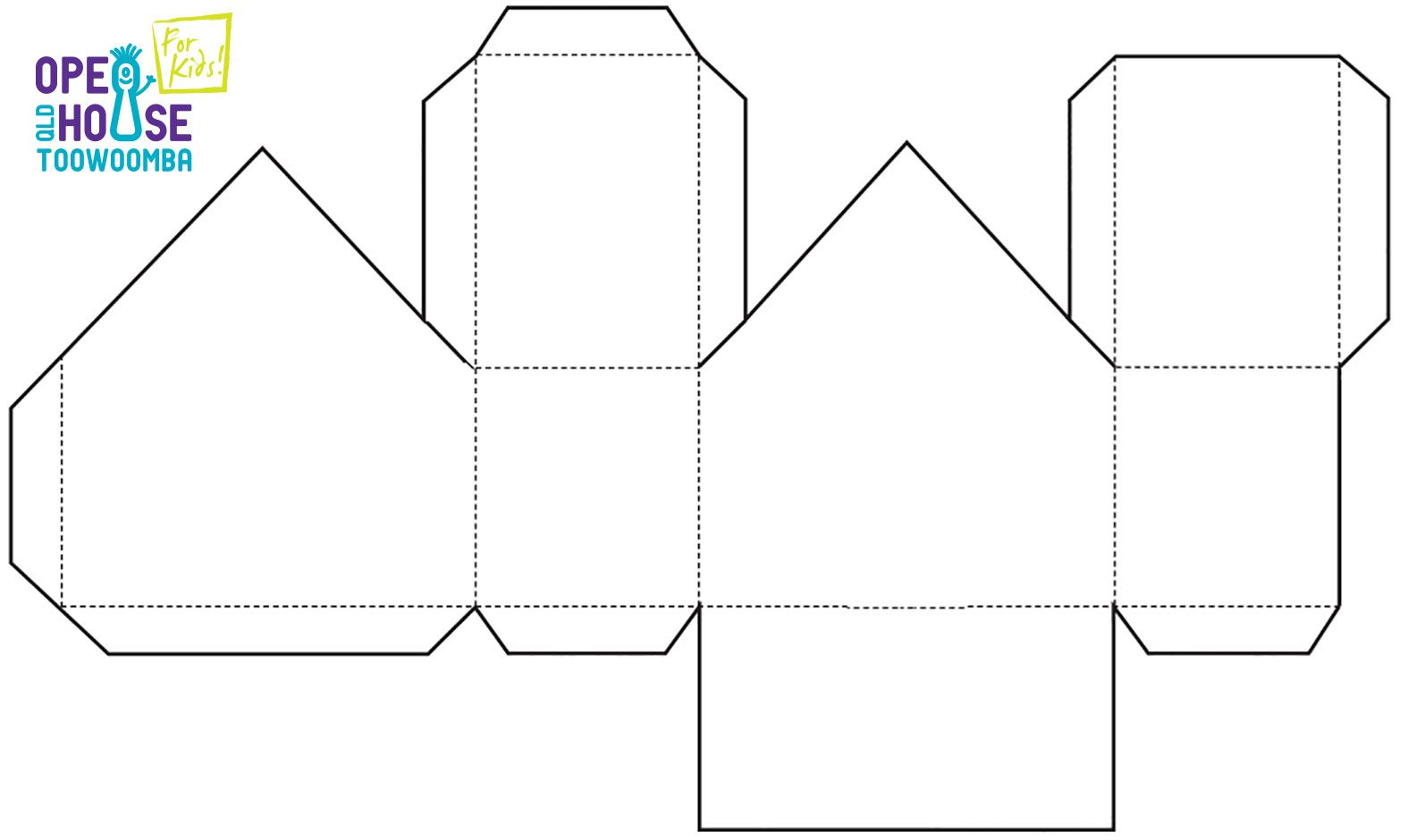 Fold Up House Template 940