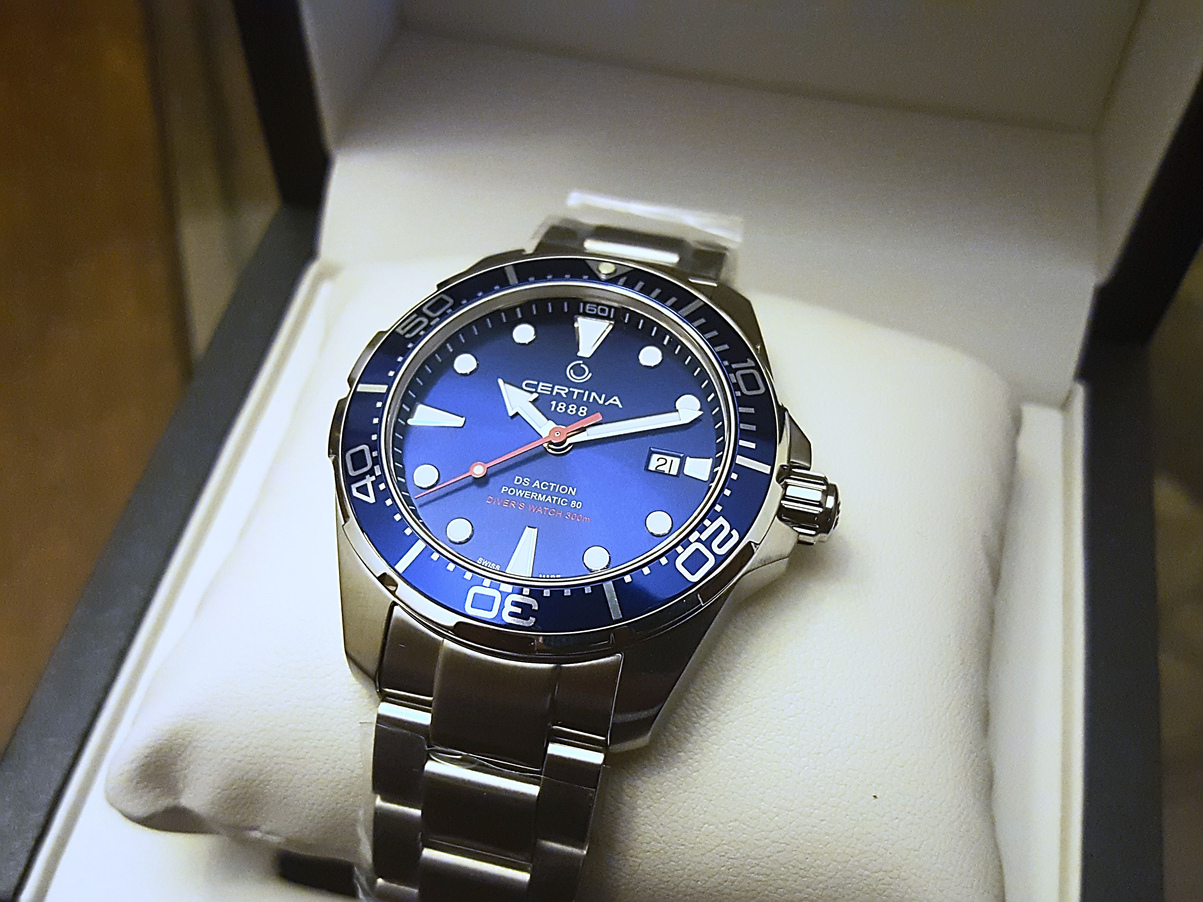 Certina Ds Action Diver Or A Comparison Of Blue Divers Http Ift Tt 2dd4grq Luxury Watches For Men Diver Watches For Men