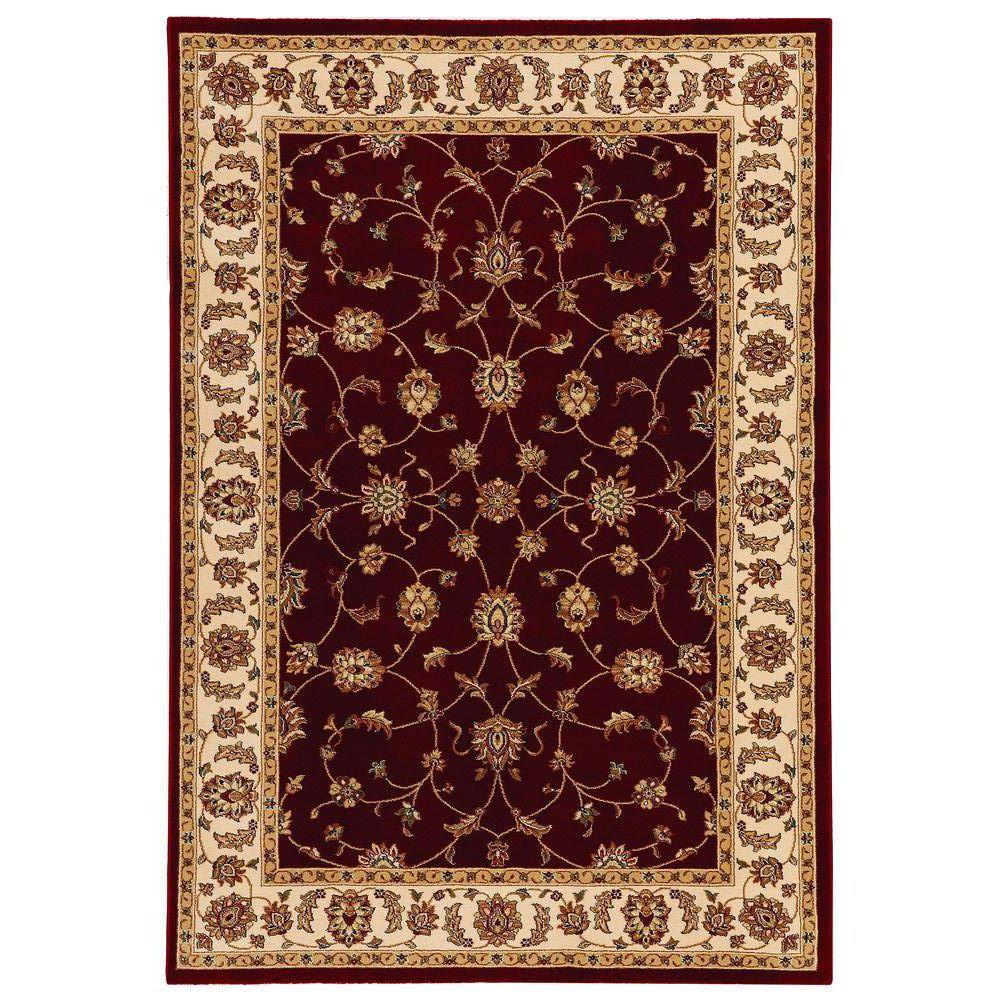 Home Decorators Collection Claire Red Beige 7 Ft 10 In X 10 Ft Area Rug Home Decorators Collection Area Rugs Colorful Rugs