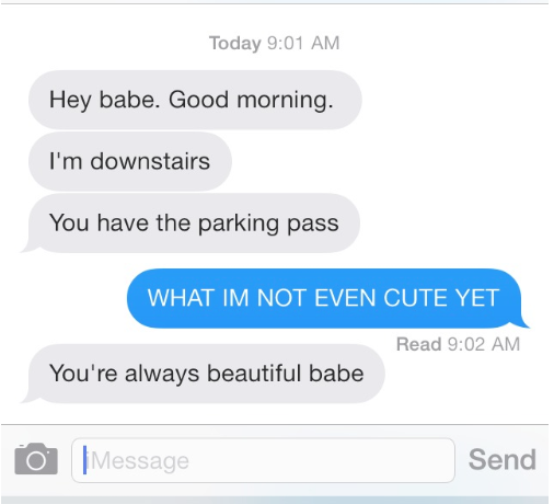 Cute texts to make a guy smile