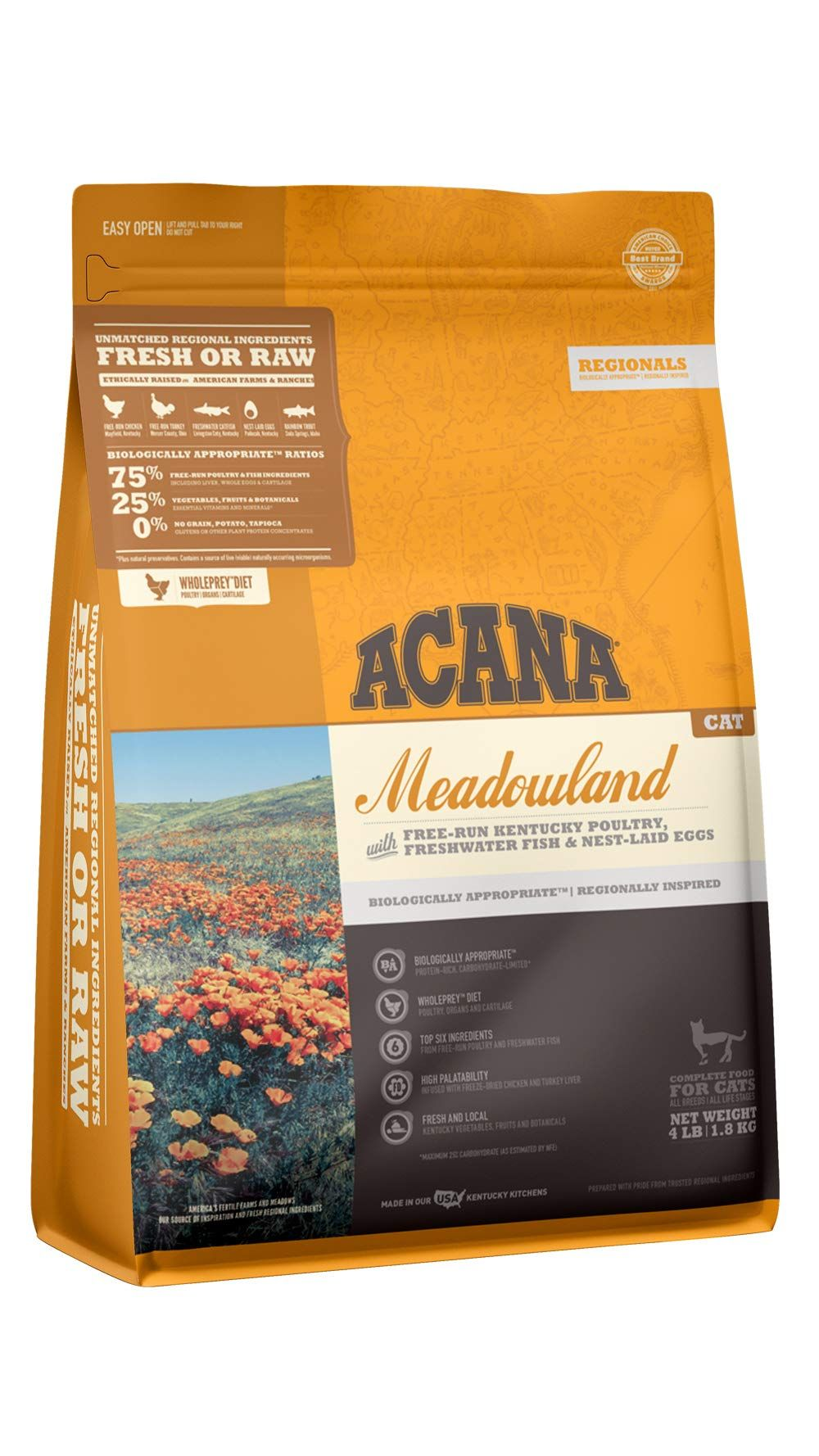 Acana Regionals Protein Rich Real Meat Grain Free Dry Cat Food