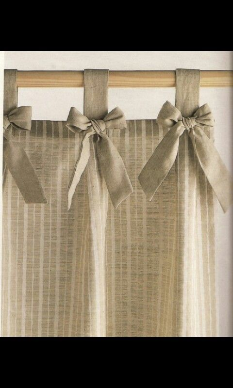 Lazos en cortina Manualitats Pinterest - cortinas para cocina modernas
