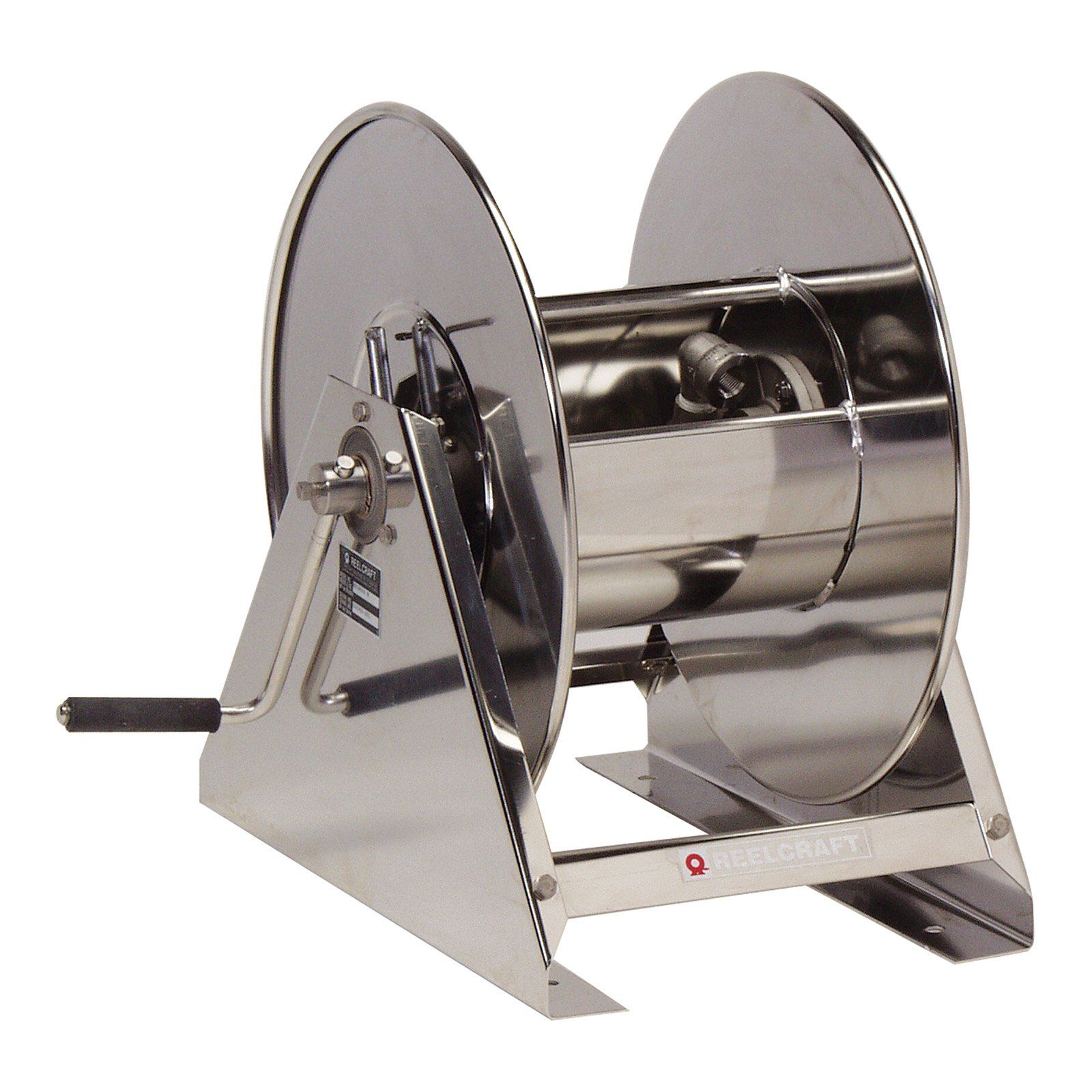 Reelcraft Stainless Steel Air Water 1 2 In Hose Reel 200 Ft Hose Reel Retractable Hose Stainless Steel Hose