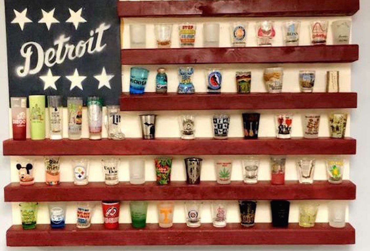 9 Brilliant Ways To Display Your Shot Glasses Shot Glasses Display Shot Glass Holder Shot Glasses