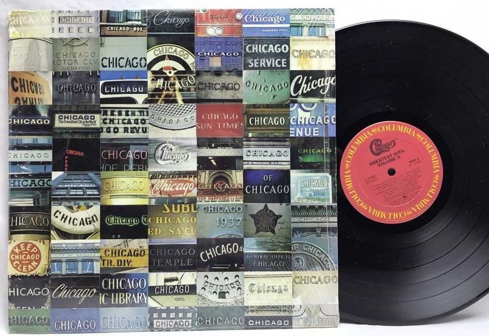 Chicago Greatest Hits Volume Ii In Shrink Original Lp Vinyl Record Album Vinyl Record Album Vinyl Greatest Hits