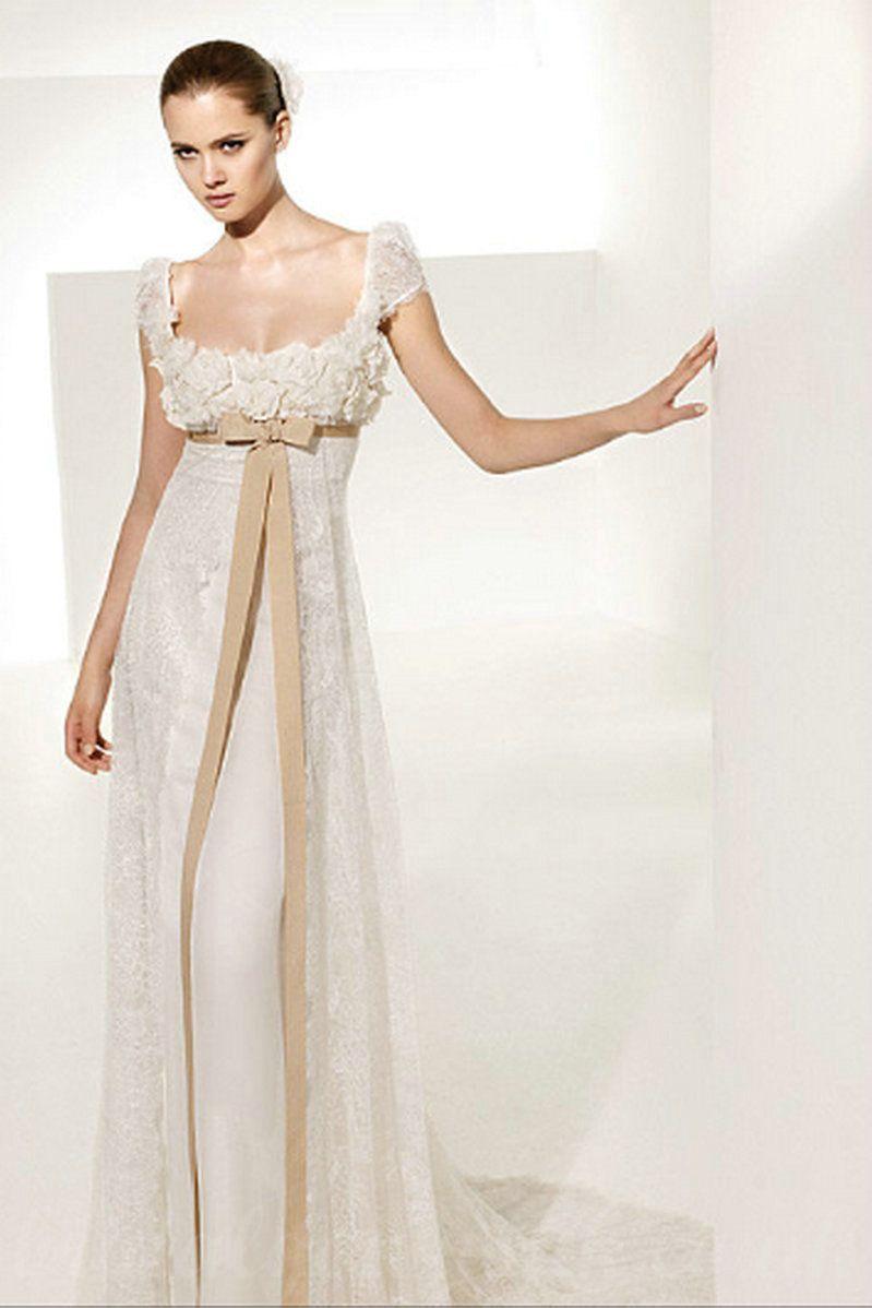 Empire wedding dress recherche google id e for Empire lace wedding dress