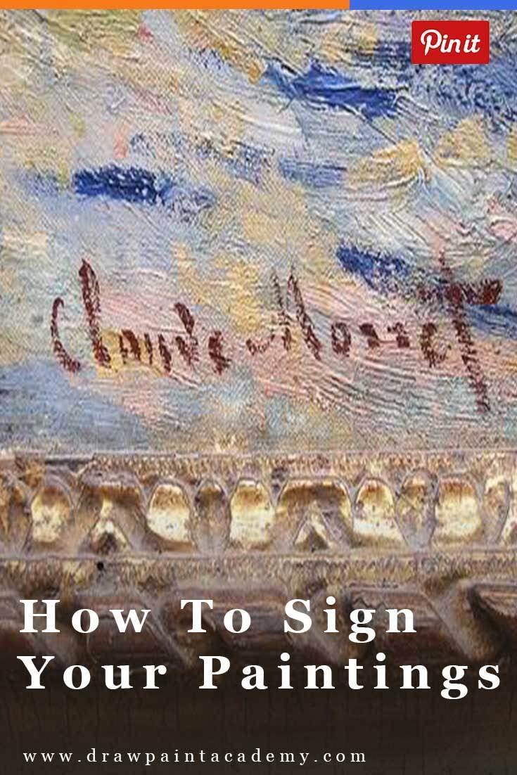 Finding The Perfect Artist Signature For Your Paintings