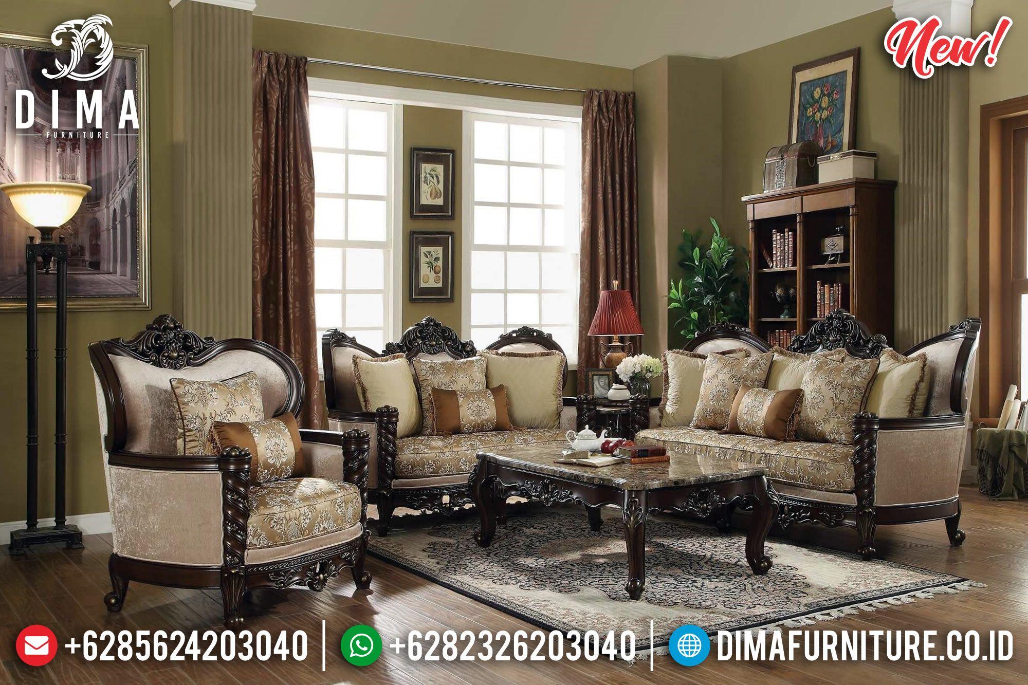 Kursi Ukiran Terbaru Sofa Tamu Mewah Jati Bt 0202 Set Ruang Keluarga Ruang Keluarga Kecil Furnitur Ruang Keluarga #sofa #set #small #living #room