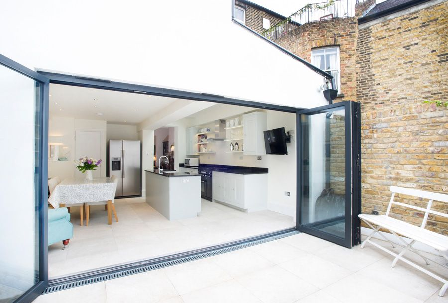 pin by renana irshai on home in 2019 kitchen sliding doors patio flooring roof extension. Black Bedroom Furniture Sets. Home Design Ideas