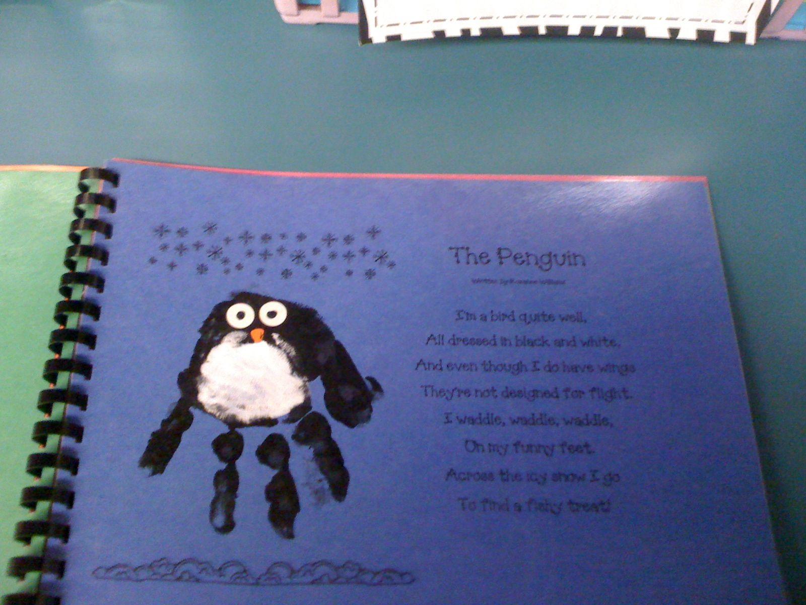 handprint penguin