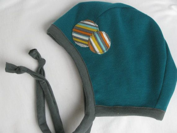 c37acedd5e2 Baby Pilot Hat with Circles Size Large Pilot Cap by LilNells