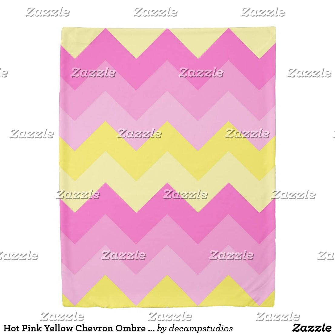 Hot Pink Yellow Chevron Ombre Zigzag Pattern Duvet Cover | Yellow ...