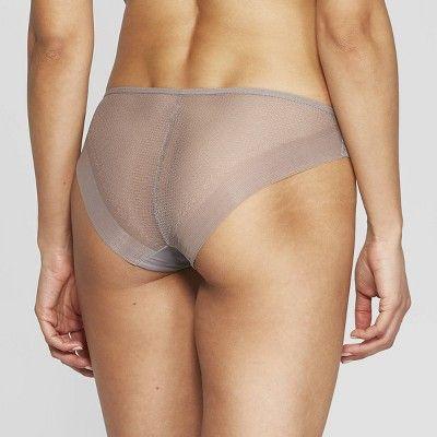 d7c7ebfbaf62 Women's Laser Cut Cheeky Bikini with Mesh Back - Auden Rocket City Gray XL