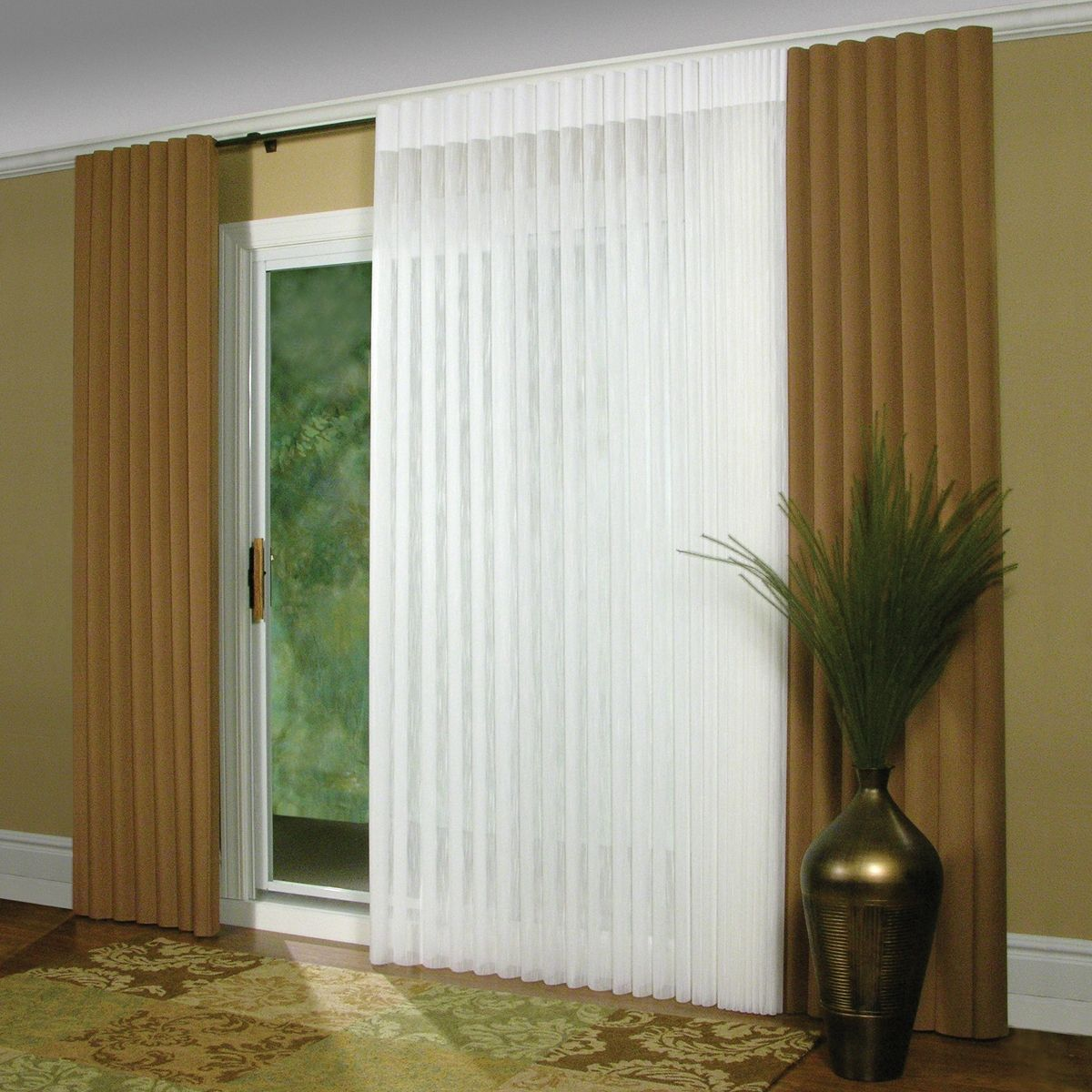 elegant patio curtains blinds vertical doors door insulated for lowes at captivating