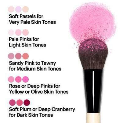 Beauty Fact: Blush color & Skin Tone Guide.